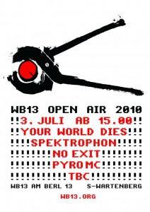 Flyer wb13 Openair 2010