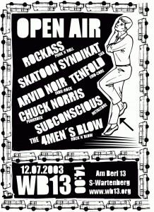Plakat Open Air 2003