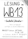"Plakat Lesung ""Gestörte literatur"""