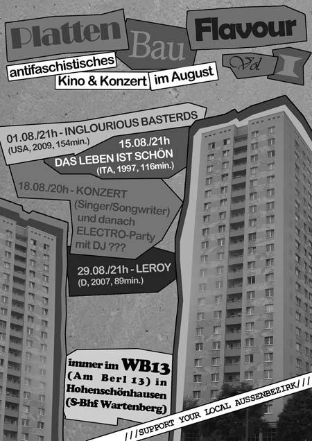 Sommer Veranstaltungsreihe im wb13